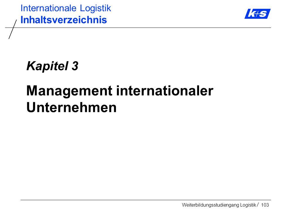 Management internationaler Unternehmen