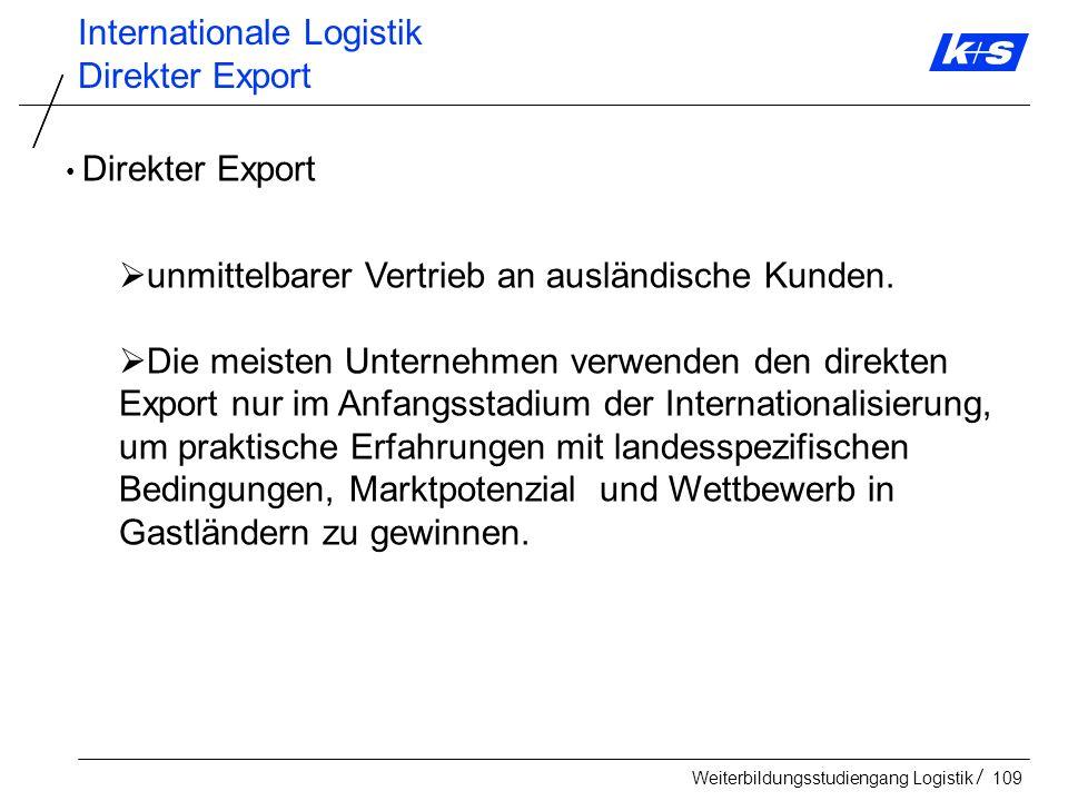 Internationale Logistik Direkter Export