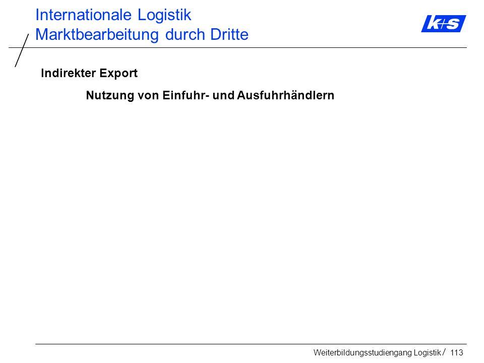 Internationale Logistik Marktbearbeitung durch Dritte