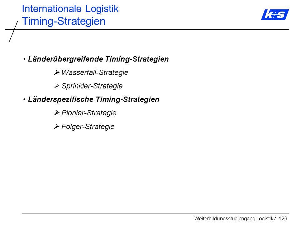 Timing-Strategien Internationale Logistik