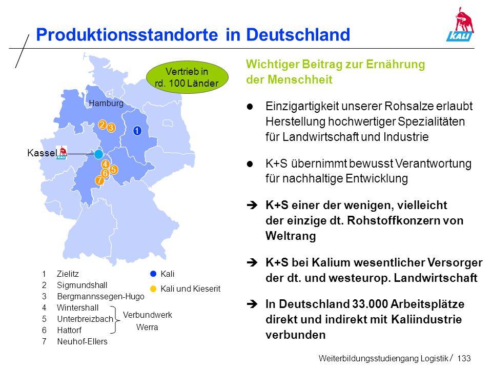 Produktionsstandorte in Deutschland
