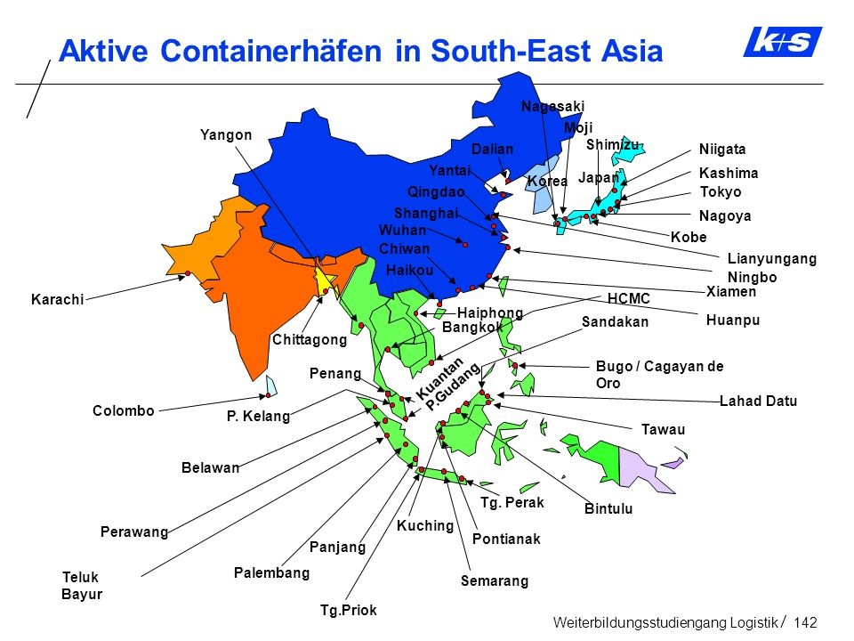 Aktive Containerhäfen in South-East Asia