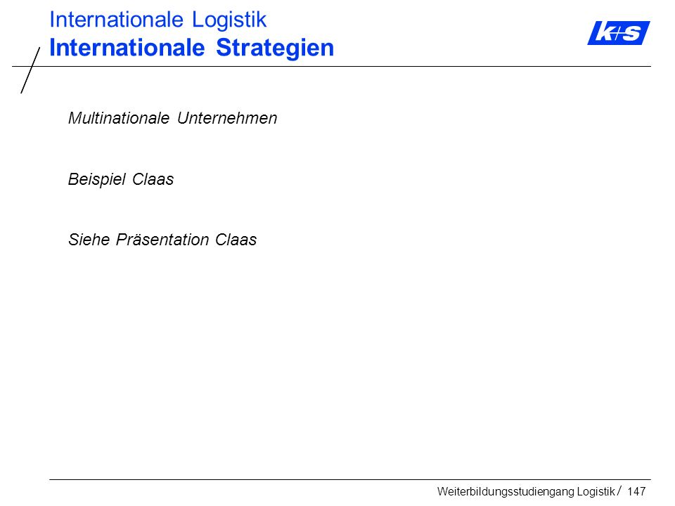 Internationale Strategien
