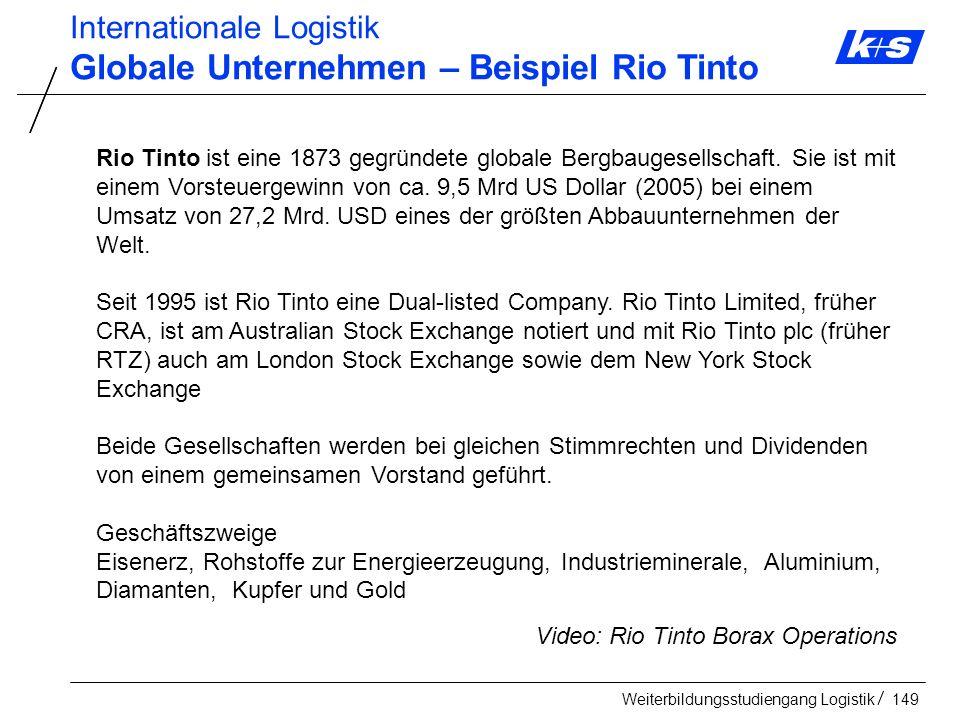Globale Unternehmen – Beispiel Rio Tinto
