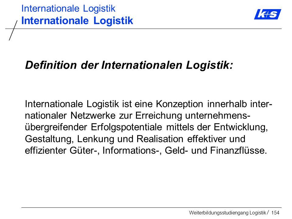 Definition der Internationalen Logistik:
