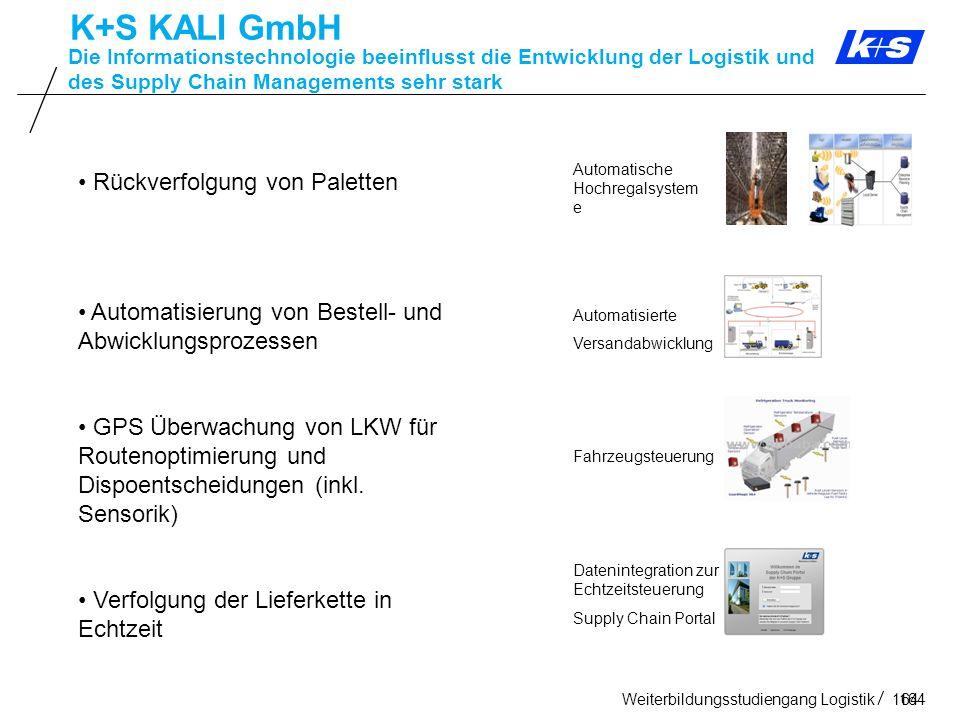 K+S KALI GmbH Rückverfolgung von Paletten