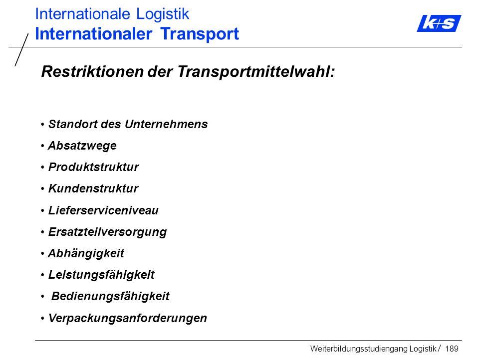 Internationaler Transport
