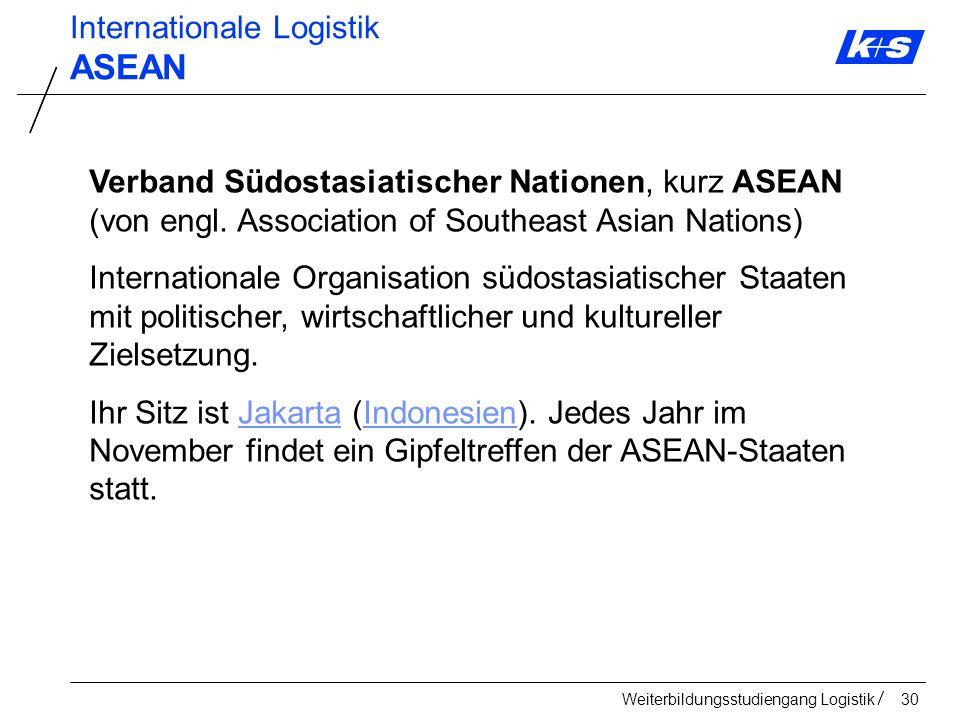 ASEAN Internationale Logistik