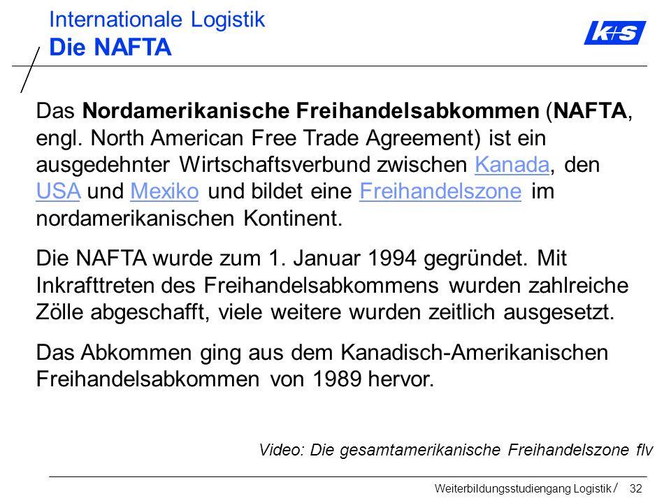 Die NAFTA Internationale Logistik