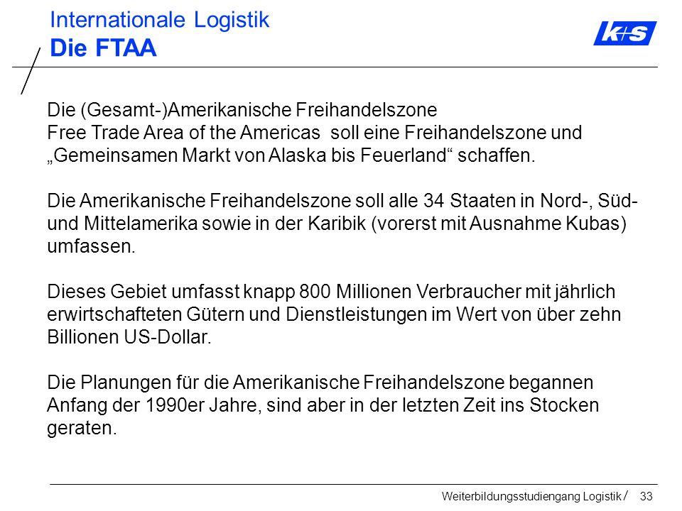 Die FTAA Internationale Logistik