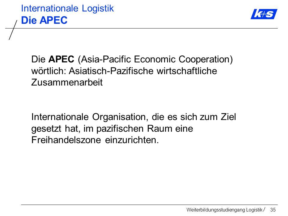 Die APEC Internationale Logistik
