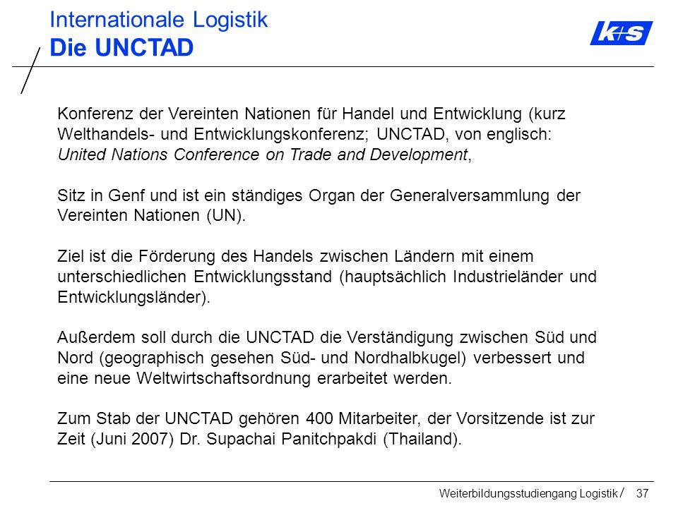 Die UNCTAD Internationale Logistik