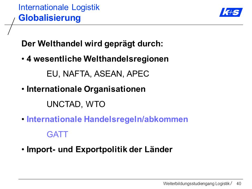 Internationale Logistik - ppt herunterladen