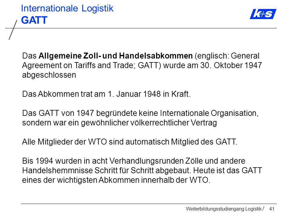 GATT Internationale Logistik