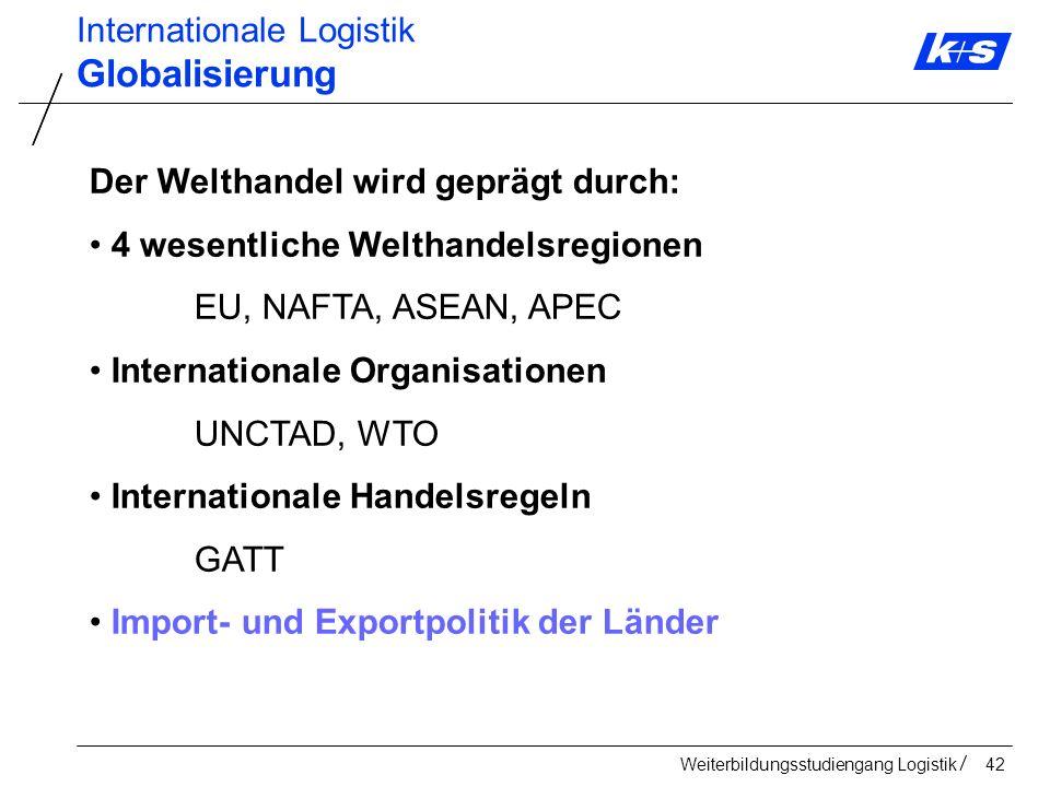 Globalisierung Internationale Logistik