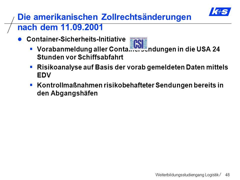 Die amerikanischen Zollrechtsänderungen nach dem 11.09.2001