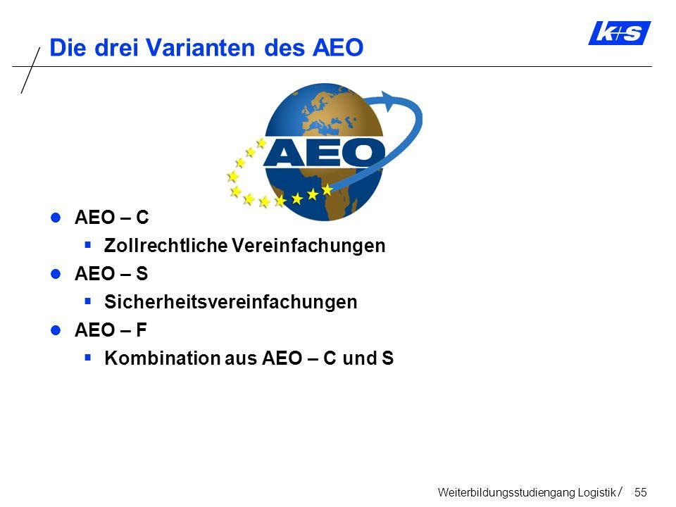 Die drei Varianten des AEO