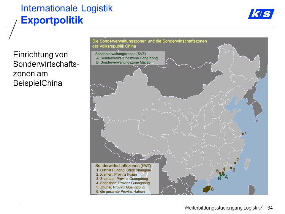 Exportpolitik Internationale Logistik