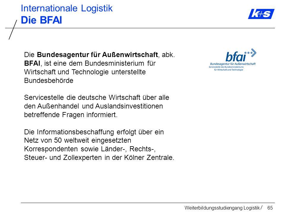 Die BFAI Internationale Logistik