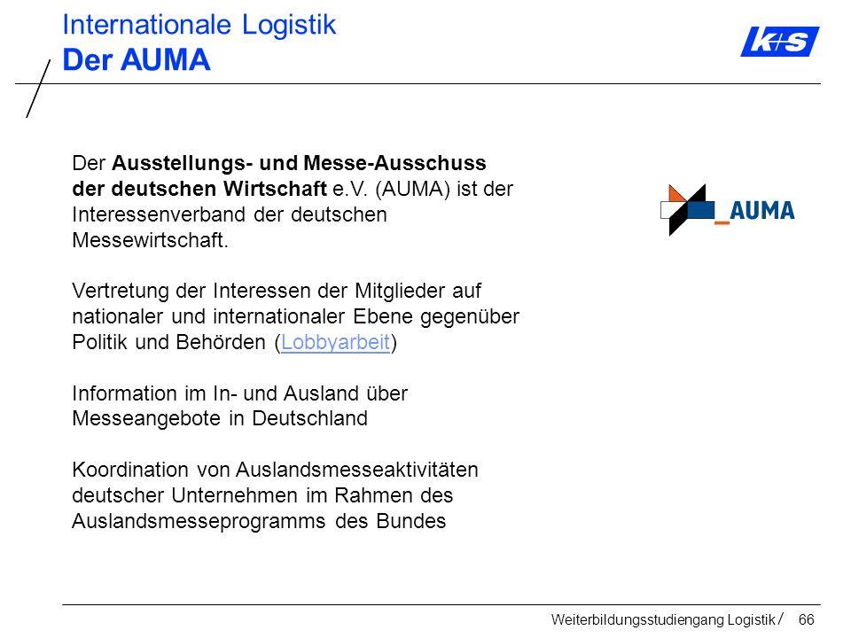 Der AUMA Internationale Logistik