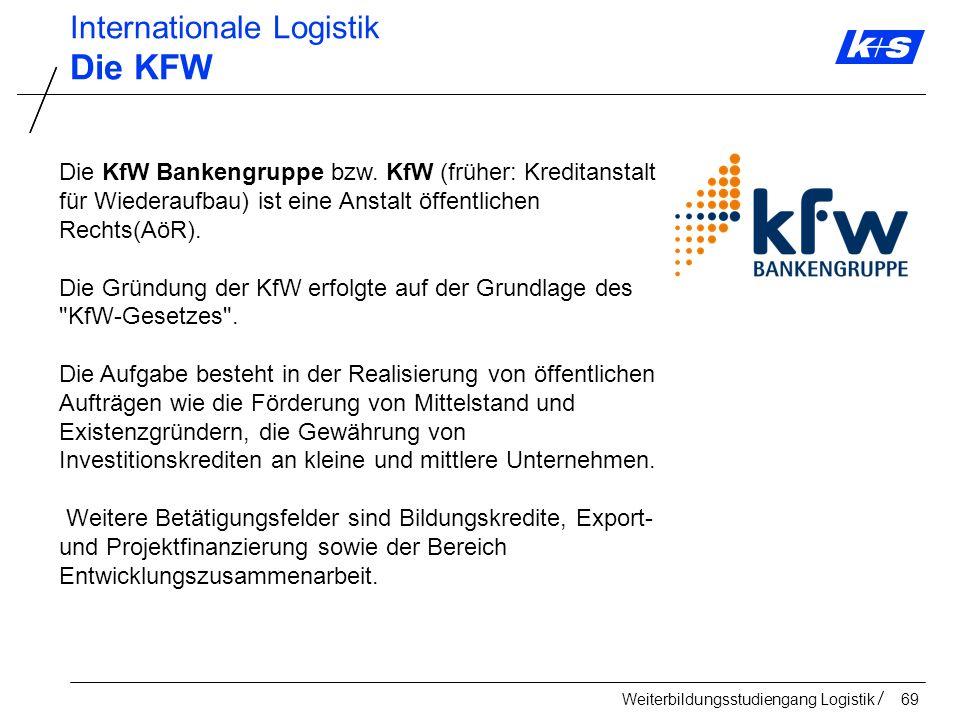Die KFW Internationale Logistik