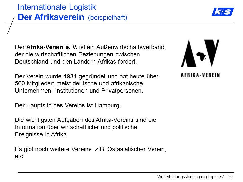 Der Afrikaverein (beispielhaft)
