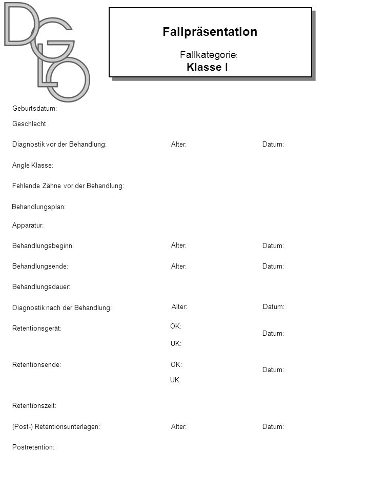Fallpräsentation Klasse I Fallkategorie: NAME: Geburtsdatum: