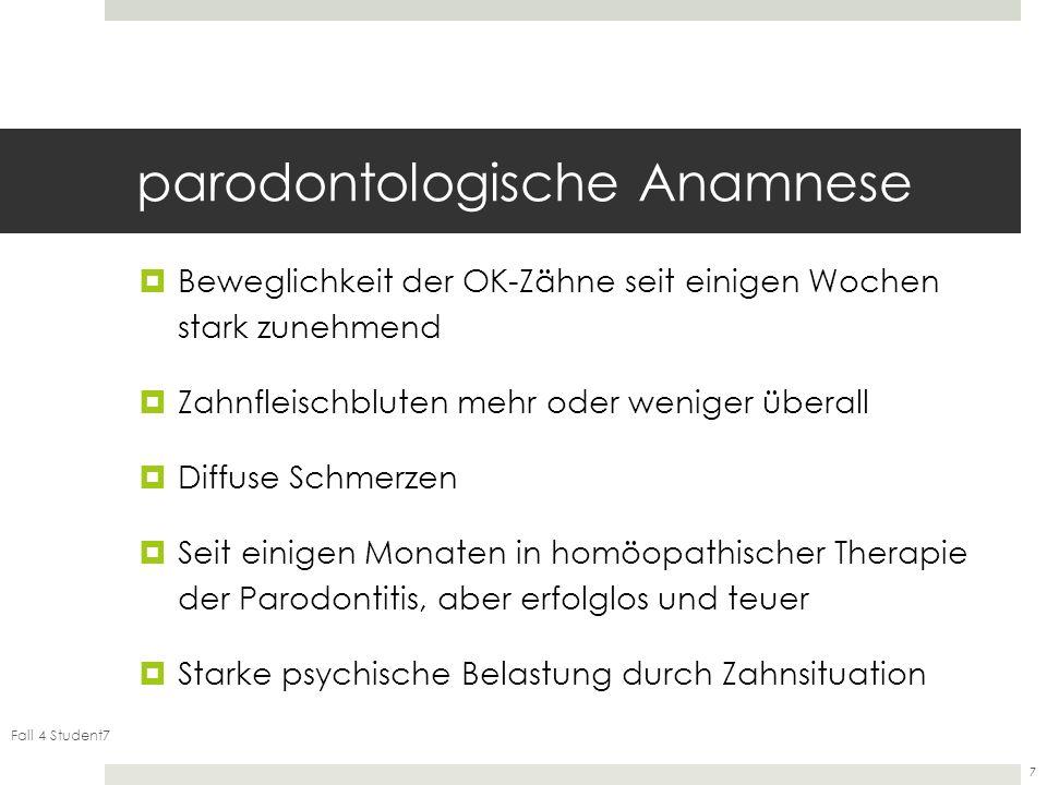 parodontologische Anamnese