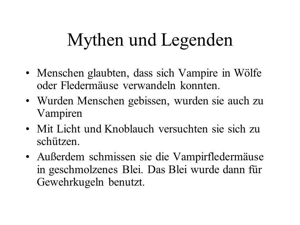 Mythen und Legenden Menschen glaubten, dass sich Vampire in Wölfe oder Fledermäuse verwandeln konnten.