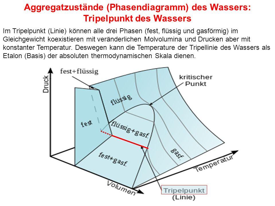 Aggregatzustände (Phasendiagramm) des Wassers: Tripelpunkt des Wassers