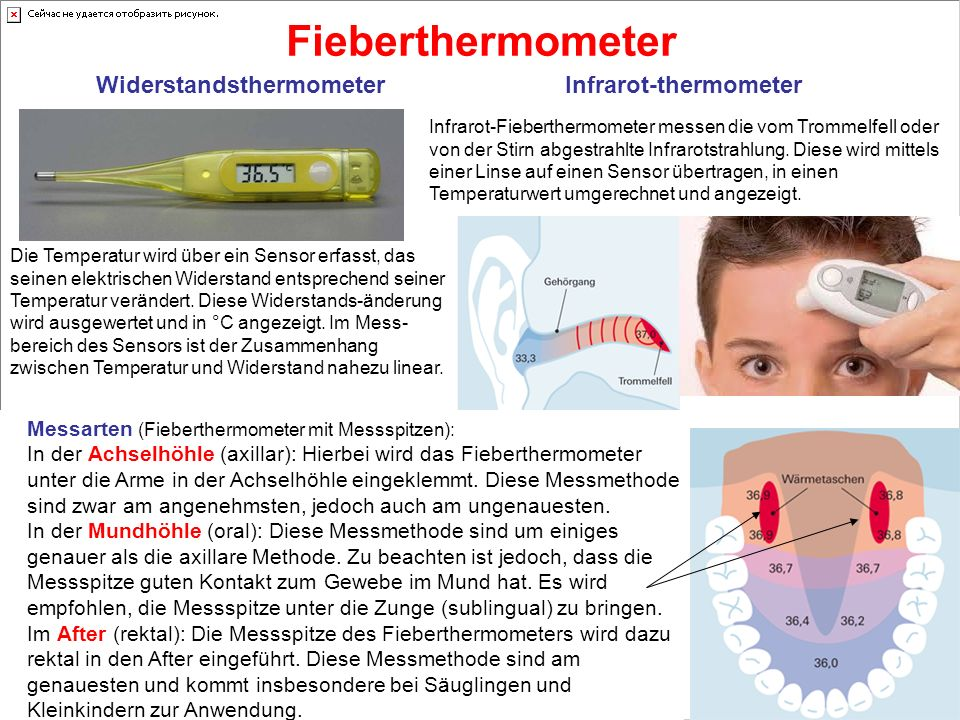 Fieberthermometer Widerstandsthermometer Infrarot-thermometer