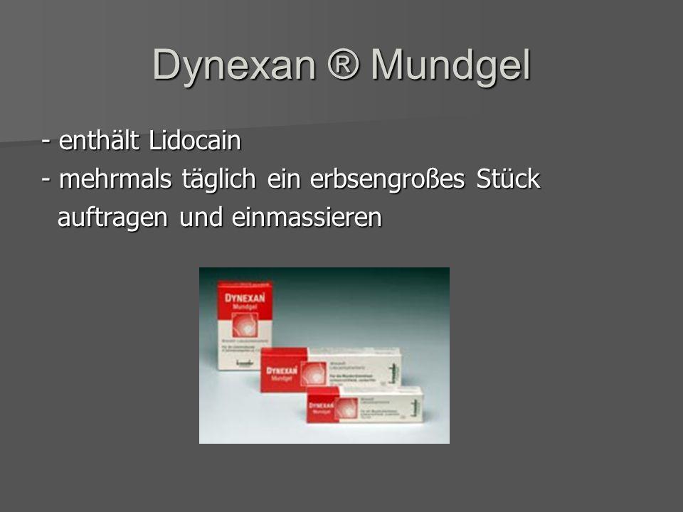 Dynexan ® Mundgel - enthält Lidocain