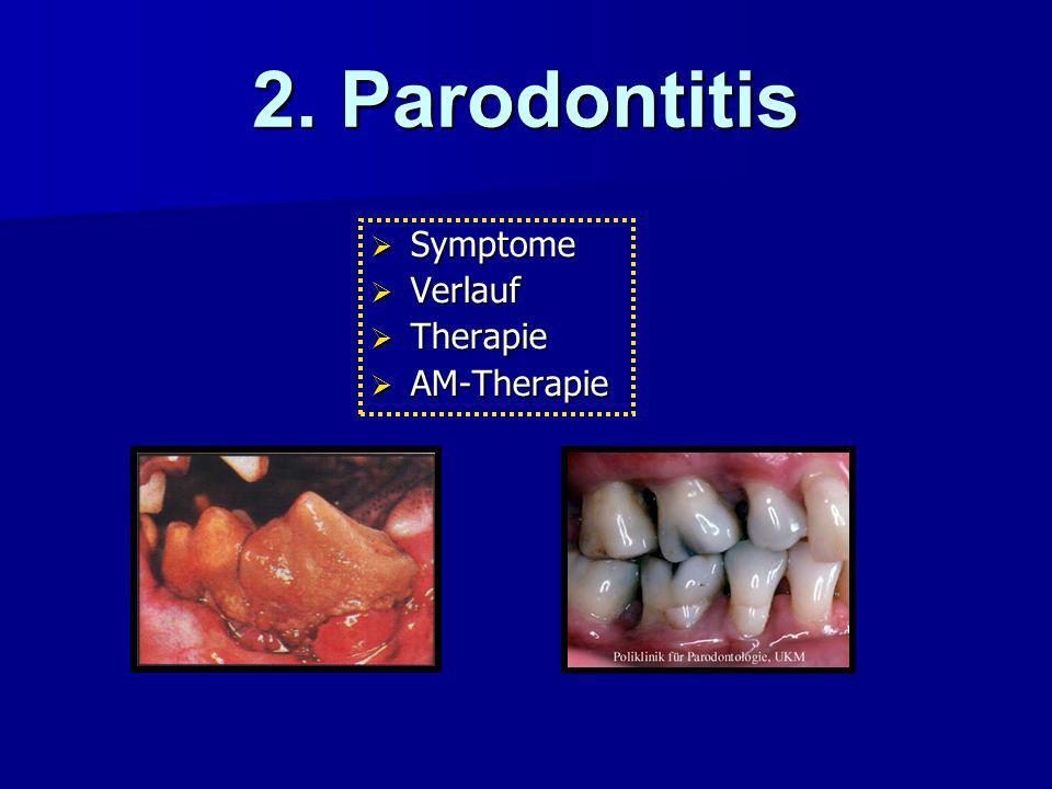 2. Parodontitis Symptome Verlauf Therapie AM-Therapie