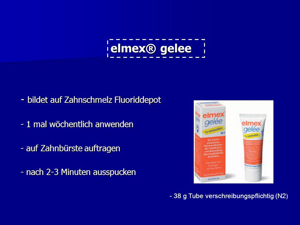 elmex® gelee - bildet auf Zahnschmelz Fluoriddepot