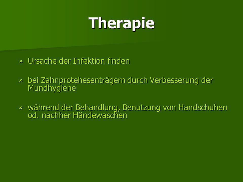 Therapie Ursache der Infektion finden