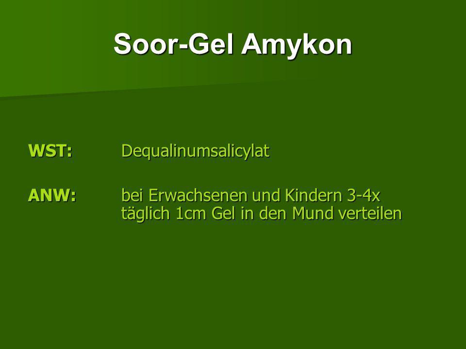 Soor-Gel Amykon WST: Dequalinumsalicylat
