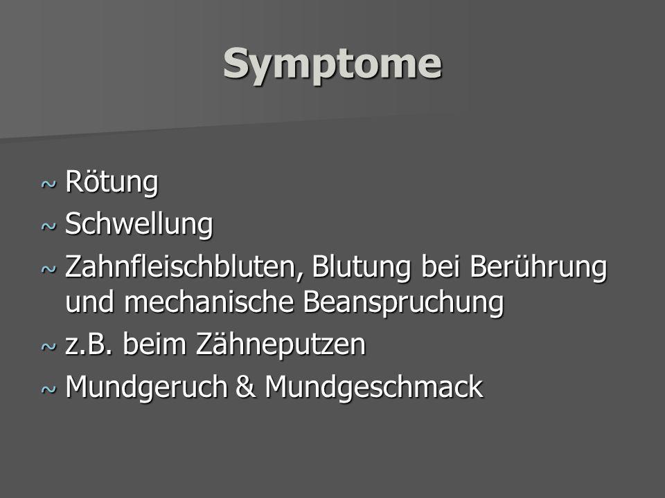 Symptome Rötung Schwellung