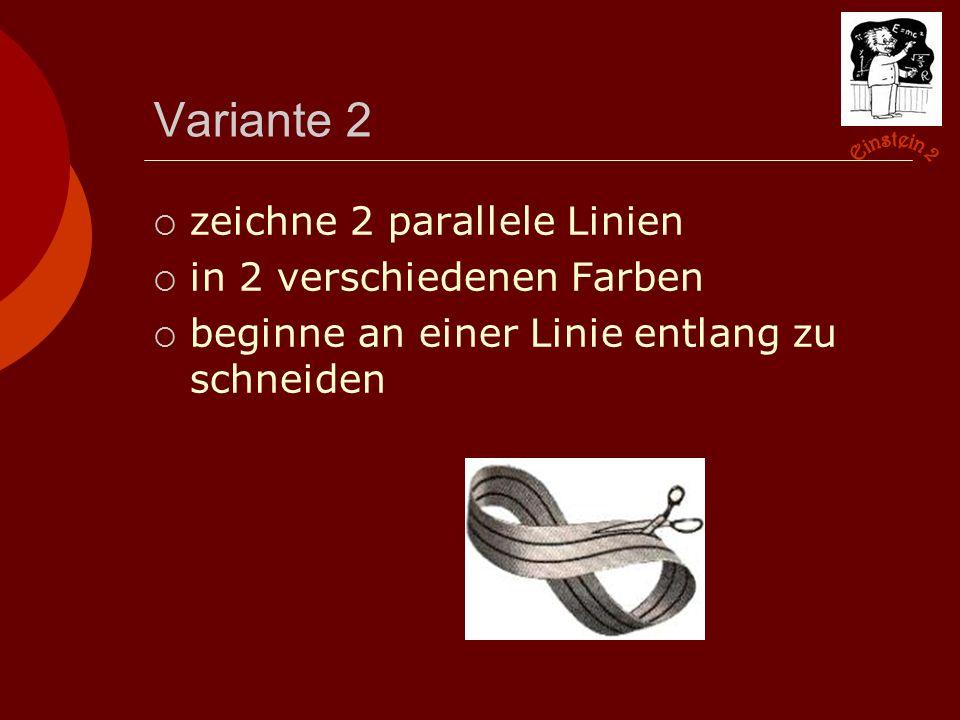 Variante 2 zeichne 2 parallele Linien in 2 verschiedenen Farben