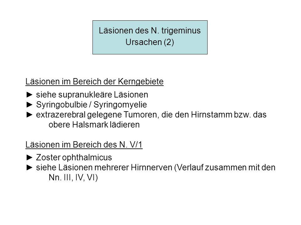 Läsionen des N. trigeminus