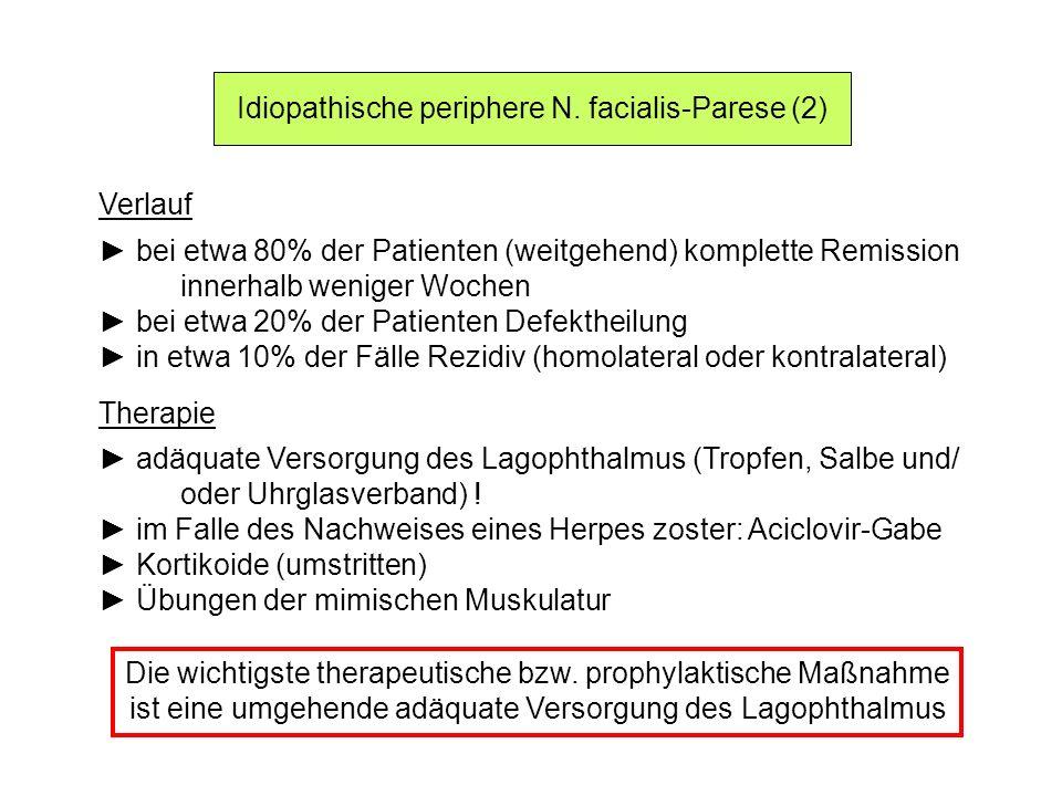 Idiopathische periphere N. facialis-Parese (2)