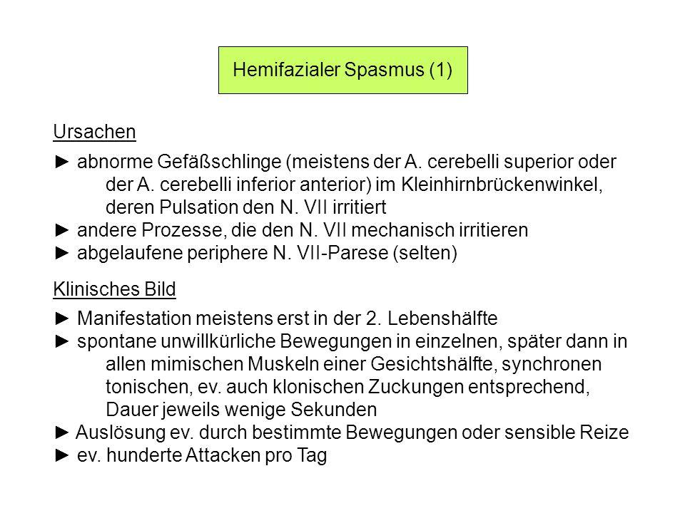 Hemifazialer Spasmus (1)