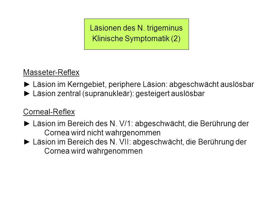 Läsionen des N. trigeminus Klinische Symptomatik (2)