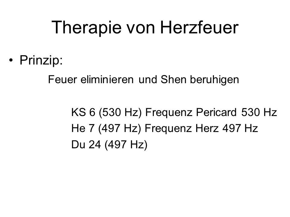 Therapie von Herzfeuer