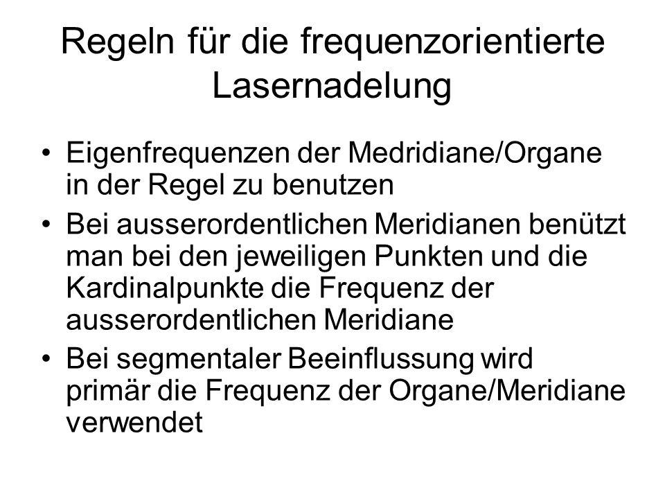 Regeln für die frequenzorientierte Lasernadelung