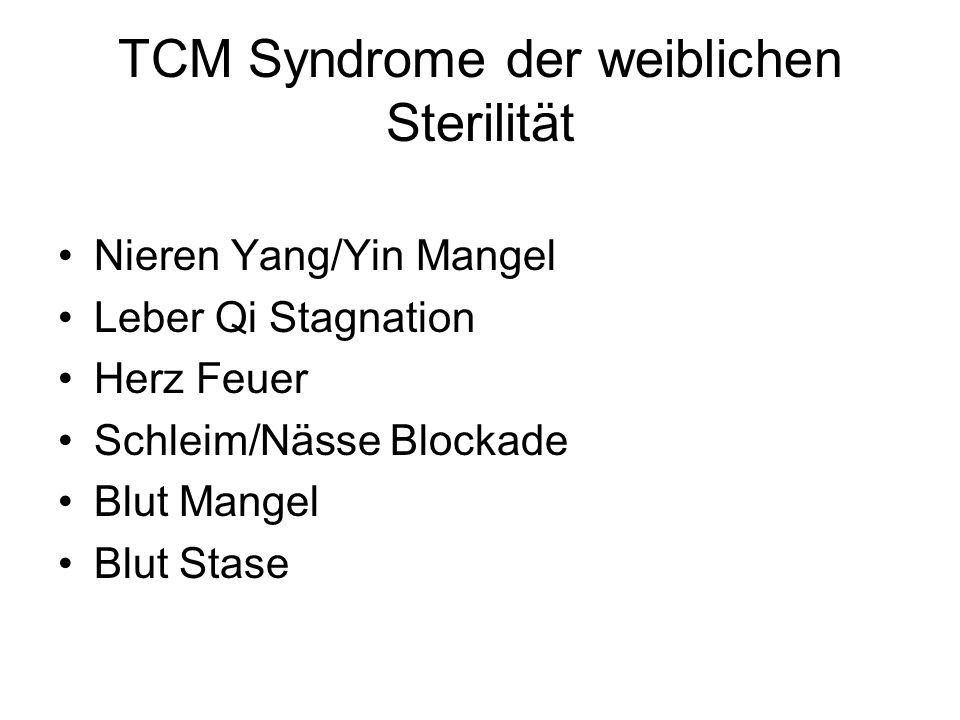 TCM Syndrome der weiblichen Sterilität