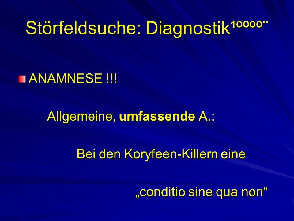 Störfeldsuche: Diagnostik¹ºººº¨