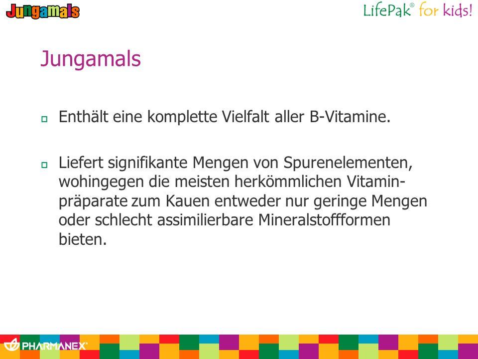 Jungamals Enthält eine komplette Vielfalt aller B-Vitamine.