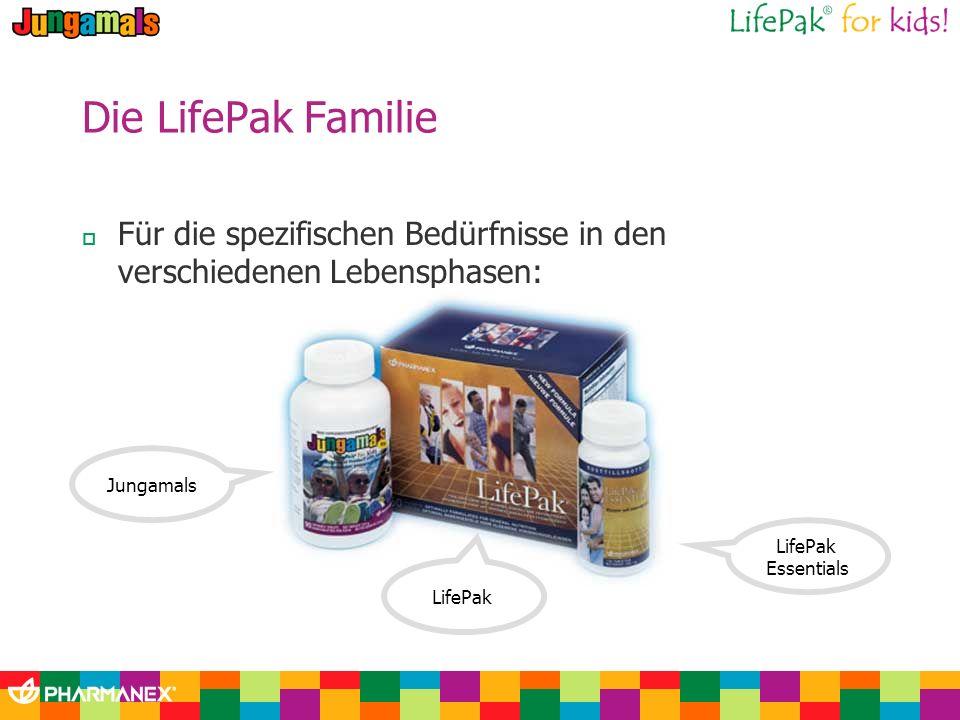 Die LifePak Familie Für die spezifischen Bedürfnisse in den verschiedenen Lebensphasen: Jungamals.