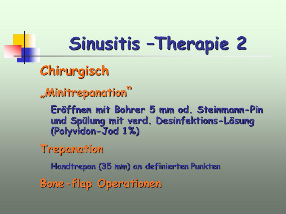 Sinusitis –Therapie 2 Chirurgisch
