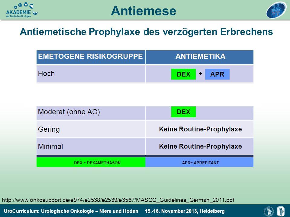 Antiemetische Prophylaxe des verzögerten Erbrechens